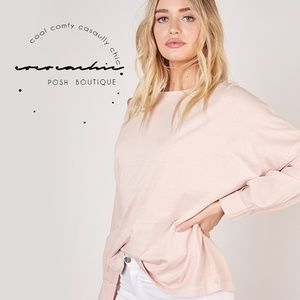 ✨NEW ✨ Downtown Washed-out Boyfriend Boatneck Top